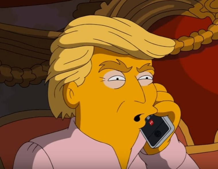 """IMAGE: Donald Trump on \""""The Simpsons\"""""""