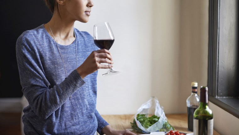 Image: Enjoying a glass of wine