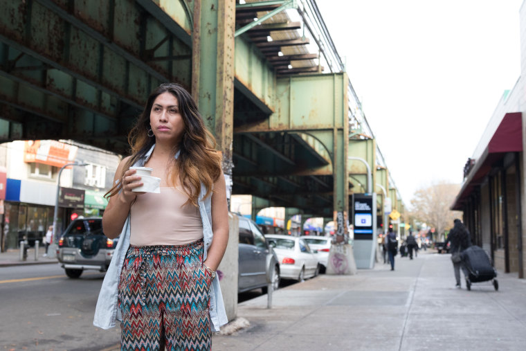 Bianey Garcia, a transgender woman originally from Mexico and now a community activist in Queens poses for a recent photo.