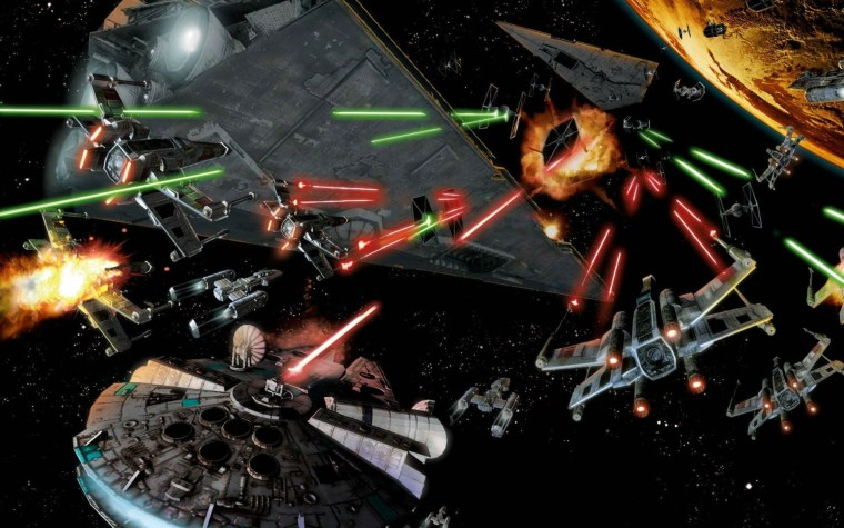 Image: Star Wars laser space battle