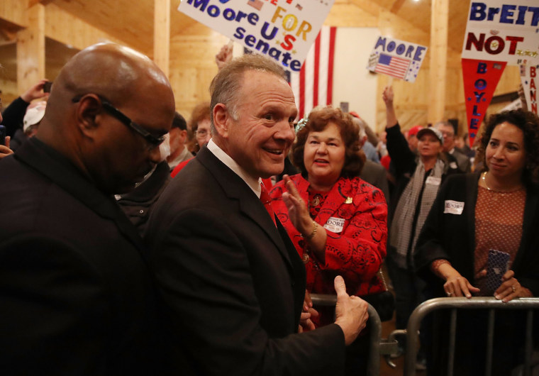 Image: GOP Senate Candidate Judge Roy Moore Holds Rally On Eve Of Election