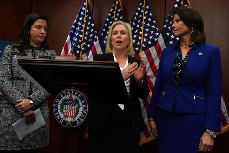Image: Senators Graham And Gillibrand Unveil Legislation To Prevent Sexual Harassment