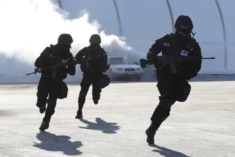 Image: Anti Terrorism Exercise Held Ahead Of PyeongChang Olympic