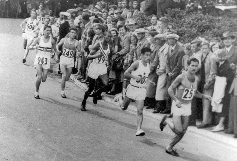 Image: Ted Corbitt at the 1952 Olympics in Helsinki, Finland.