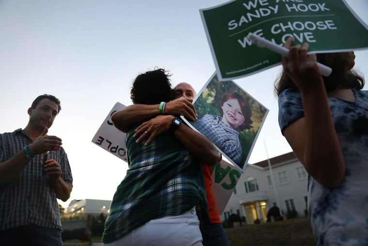 Vigil Held In Newtown, Connecticut For Las Vegas Shooting Victims