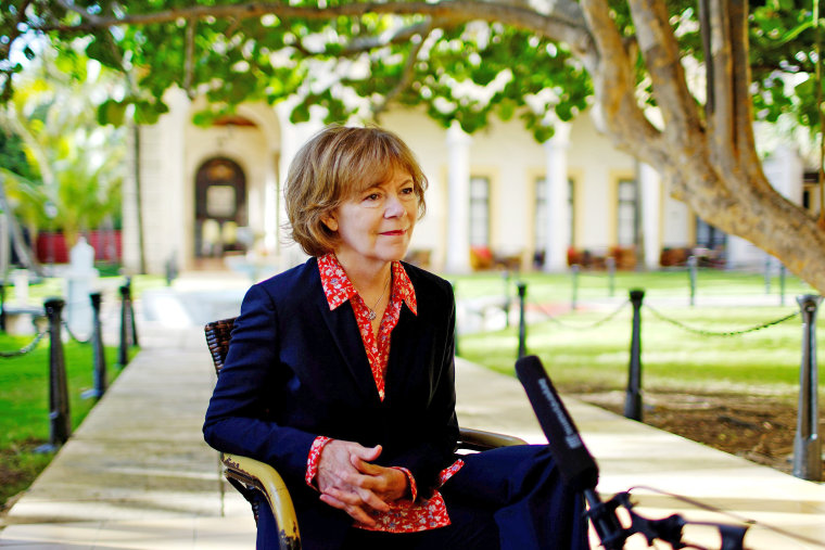 Image: Minnesota Lieutenant Governor Tina Smith speaks during an interview at a Hotel in Havana