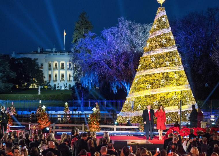 Image: President Trump Lights the National Christmas Tree on the Ellipse