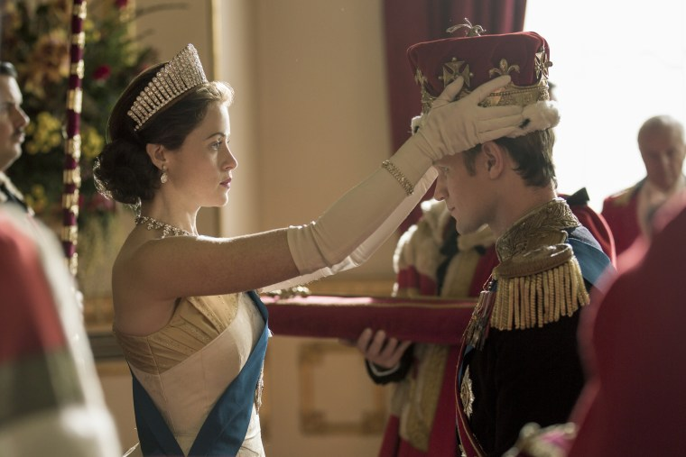 Image: Queen Elizabeth II formally makes Philip a British Prince on Netflix's The Crown.