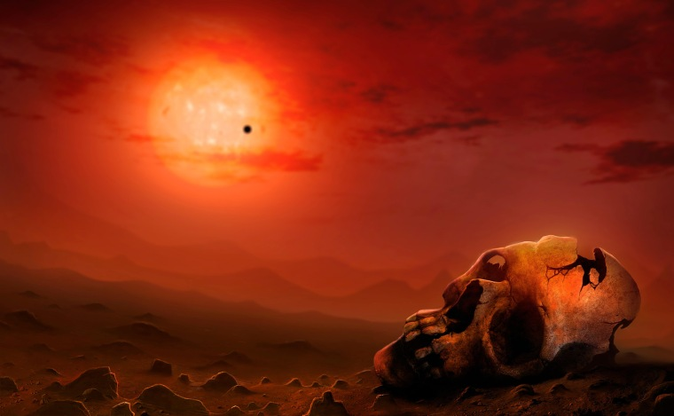 Image: Illustration Depicting the End of Life on Earth