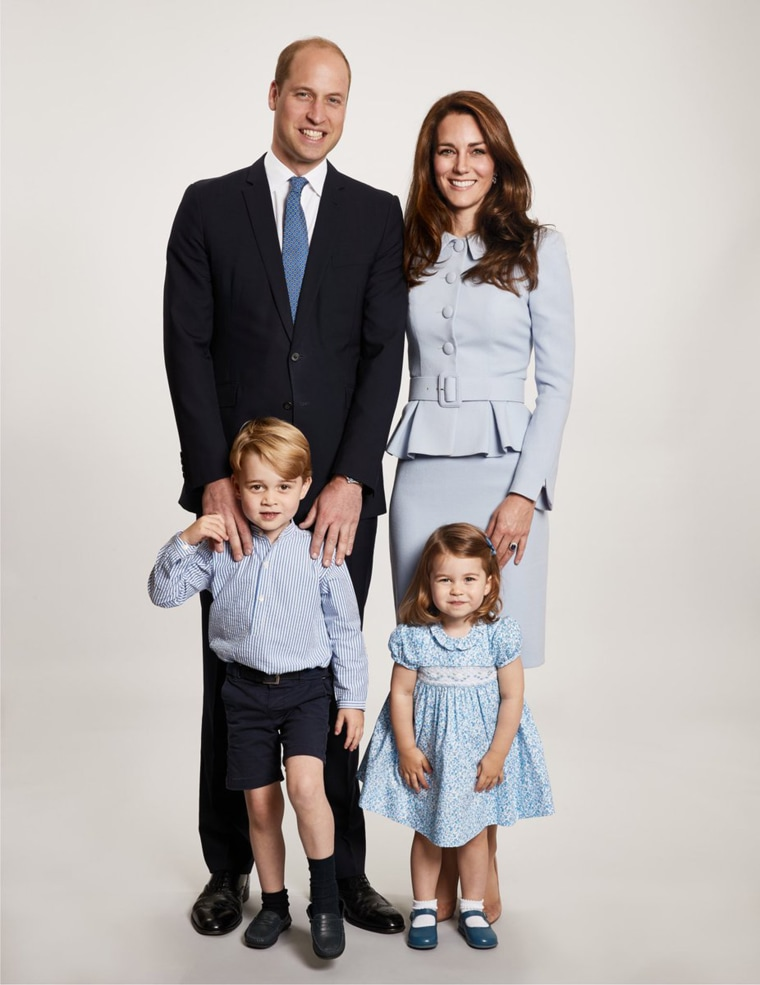 The Duke and Duchess of Cambridge share a new photograph of their family.