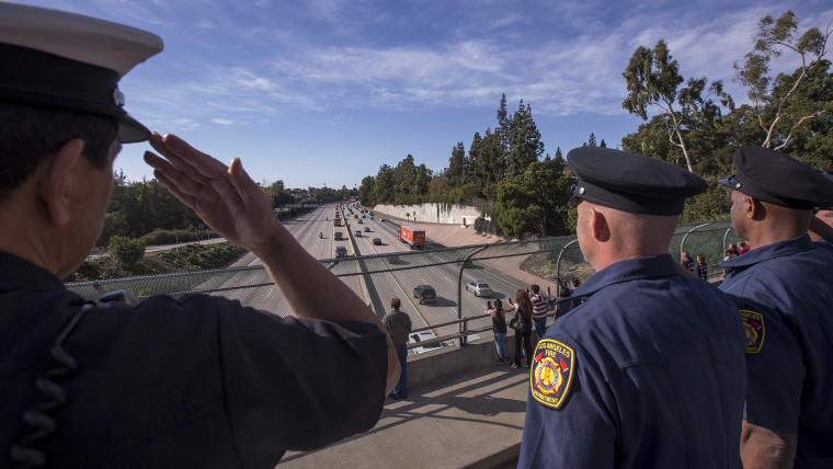 Procession Held For Cal Fire Engineer Cory Iverson Killed Battling Thomas Fire