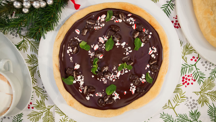 Gesine Bullock-Prado's Peppermint Dessert Pizza