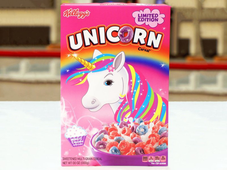Kellogg's new Unicorn Cereal