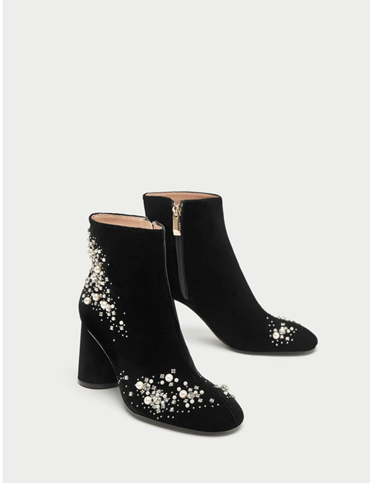 Pearl ankle boots