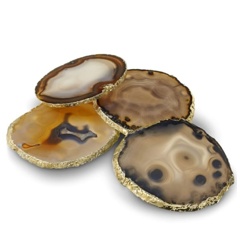 Agate coasters from William Sonoma
