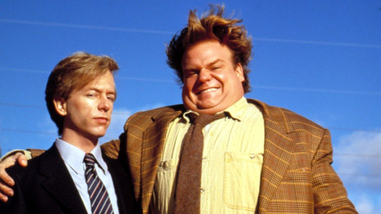 Chris Farley and David Spade in 'Tommy Boy'