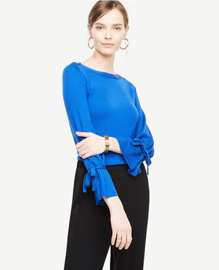 blue merino sweater
