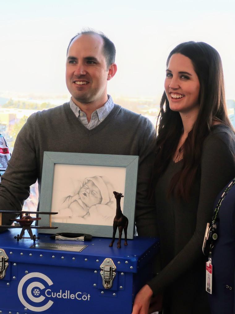 Caitlin and Brandon Robbins lost their son to stillbirth.