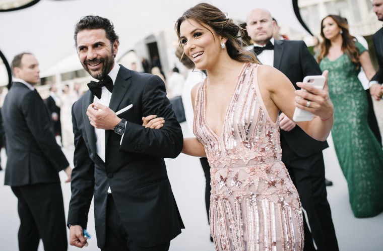 Image: FILE: Eva Longoria Pregnant With First Child L'Oreal At amfAR Gala Cannes 2017 The 70th Cannes Film Festival - #Canniversary