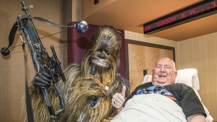 "A dying man's wish was see the new ""Star Wars"" movie had his wish come true with the hard work of some community volunteers."