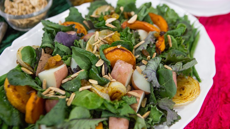 Raw & Cooked Salad for Winter