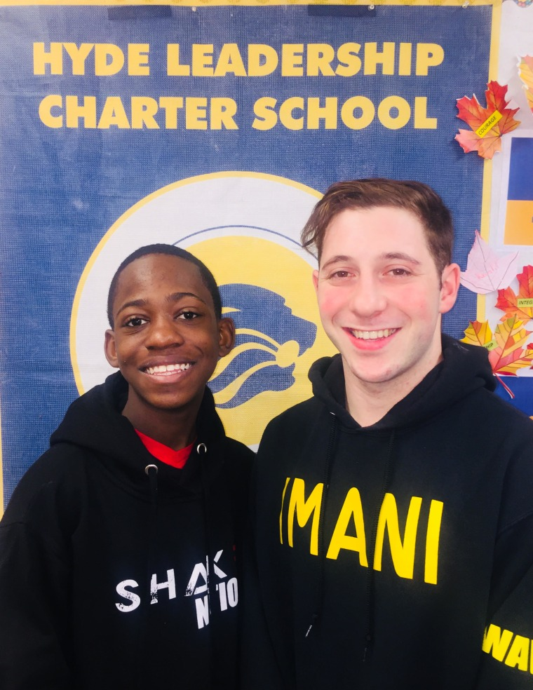 Bronx teen Amir Wilson and his dance teacher, Billy Cohen.