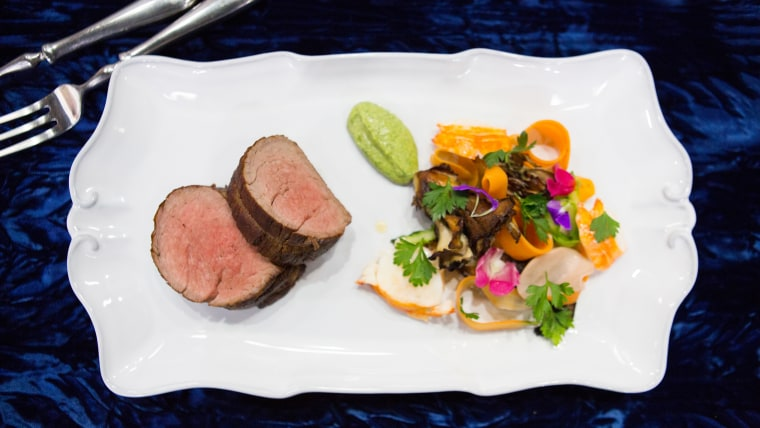 Craig Strong's Roasted Beef Tenderloin with Vegetable Salad and Salsa Verde
