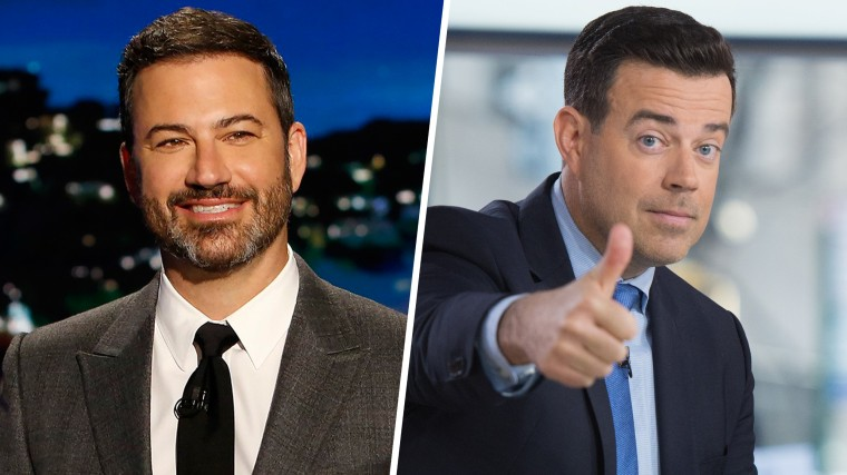 """Image: ABC's """"Jimmy Kimmel Live"""" - Season 15 / Image: Carson Daly on the Today Show. February 24, 2017."""