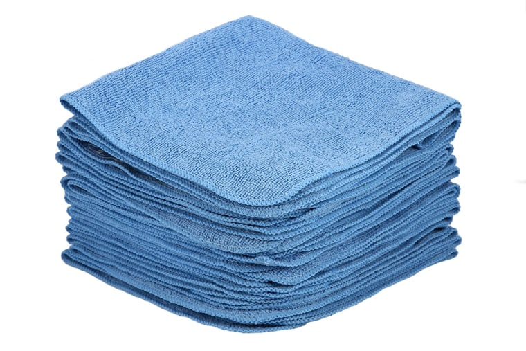 blue microfiber cloths