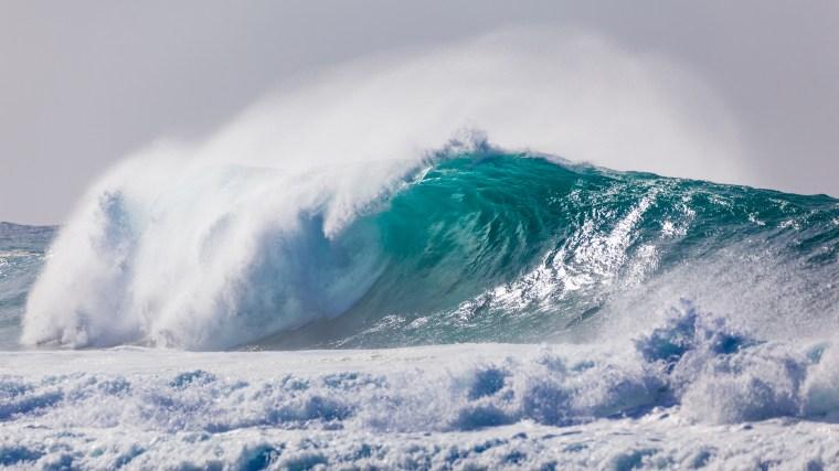 Dangerous Rough Blue Crashing Waves