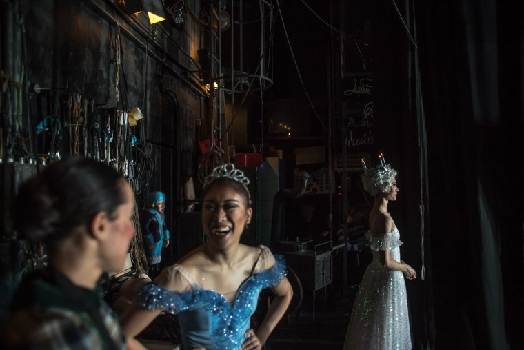 Image: Dancers from the Czech National Ballet wait backstage during a performance of The Nutcracker at the National Theatre in Prague, Czech Republic, on Dec. 16.