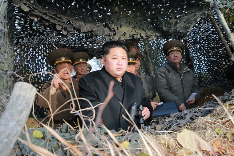 Image: North Korean leader Kim Jung-un inspects Galido outpost and Jangjedo defending force located in the far south of Southwest sea in North Korea in this undated photo released by North Korea's Korean Central News Agency
