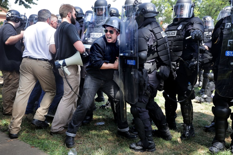 "Image: Violent Clashes Erupt at ""Unite The Right"" Rally In Charlottesville"