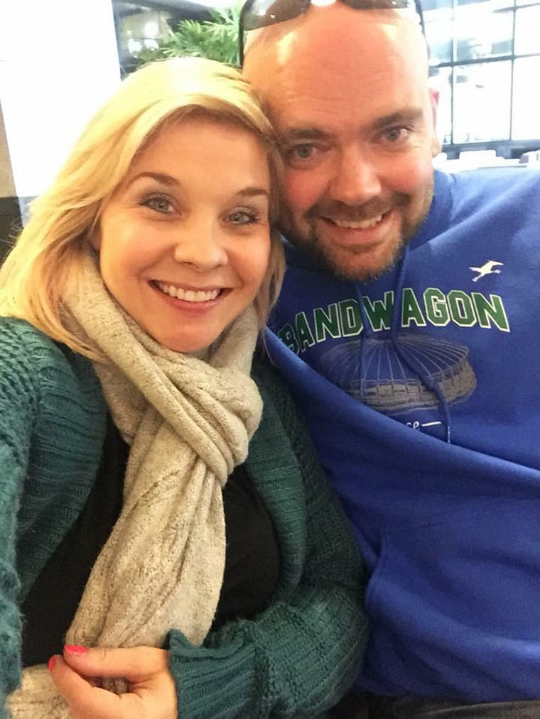Del DeSart, right, pictured with his wife, Meagan DeSart, was on the Amtrak train that derailed on Monday.