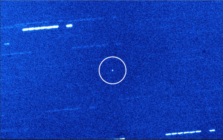 This view of the interstellar object 'Oumuamua was captured by the 4.2-meter William Herschel Telescope in La Palma in Spain's Canary Islands.