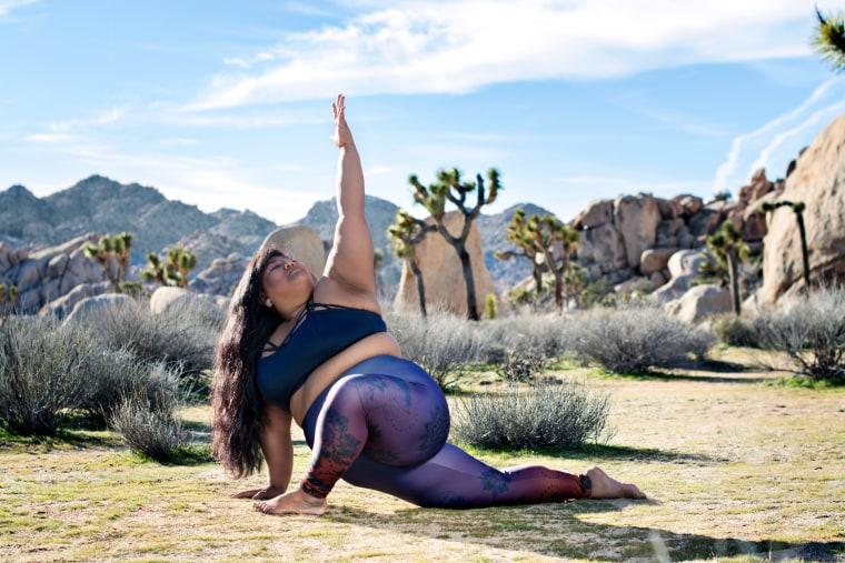 Valerie Sagun, body positive activist and founder of Big Gal Yoga.