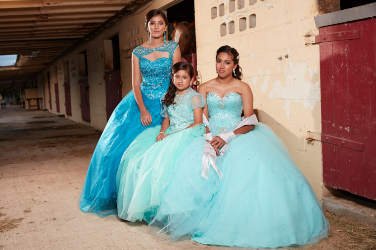 Jackie, Emely, and Nina from the HBO documentary that focuses on the Hispanic rite of passage.