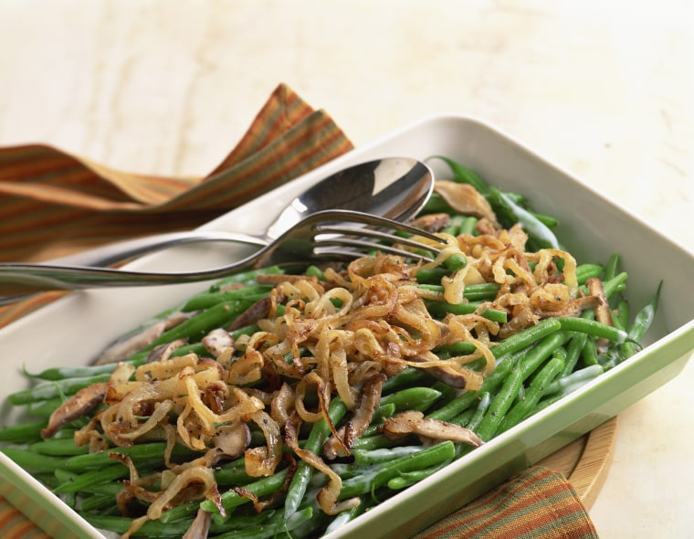 Image: Green Bean Casserole with fried onions