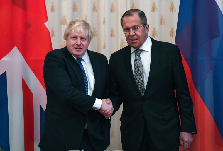 Image: Boris Johnson and Sergei Lavrov