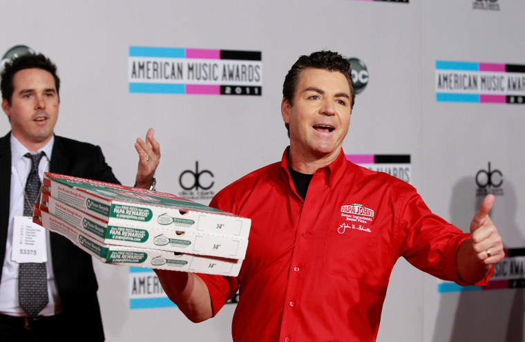 Image: John Schnatter, founder and chief executive of Papa John's Pizza