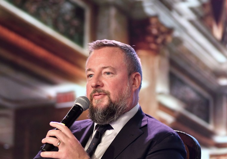 Image: Shane Smith, chief executive officer of Vice Media Inc., speaks during the Global Business Summit in New Delhi, India, on March 27, 2017.