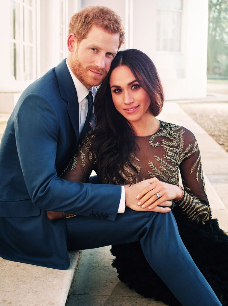 Official engagement photo of Prince Harry and Meghan Markle