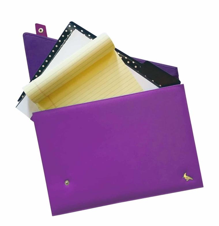 Portfolio in purple
