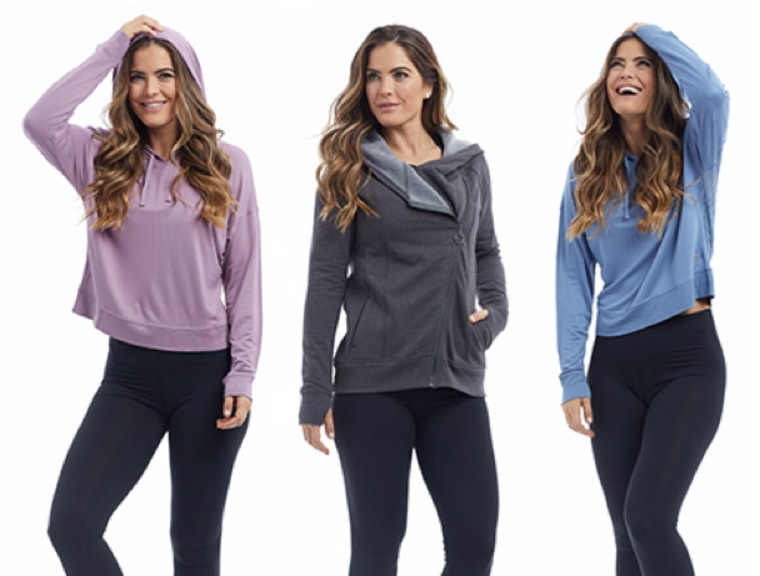 Shape-enhancing performance women's active wear