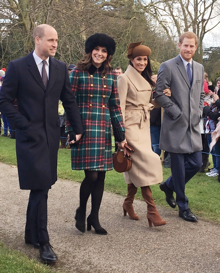 Meghan Markle, Prince Harry, Prince William, and Catherine, Duchess of Cambridge