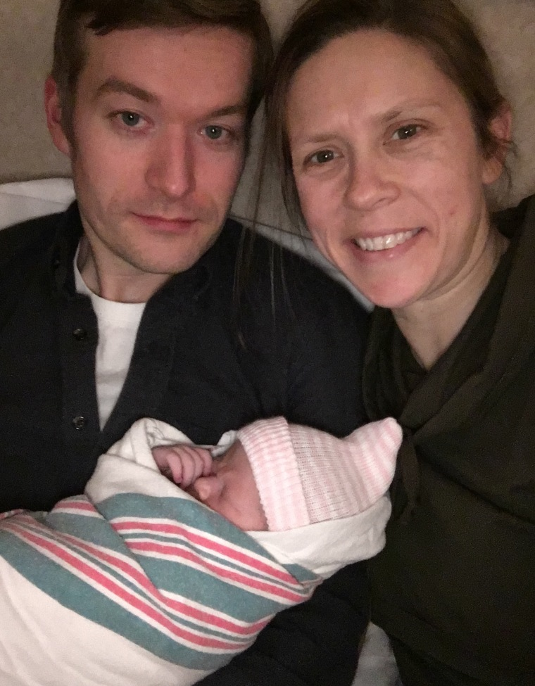 Hours after giving birth to her daughter, Verna, Dr. Hilary Conway delivered the twins of one of her patients.