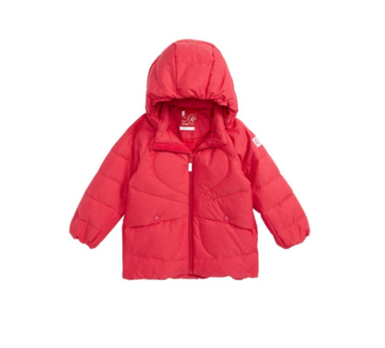 Pink down jacket