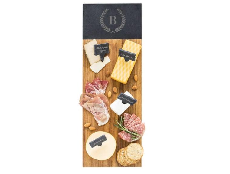 Mongrammed cheese board