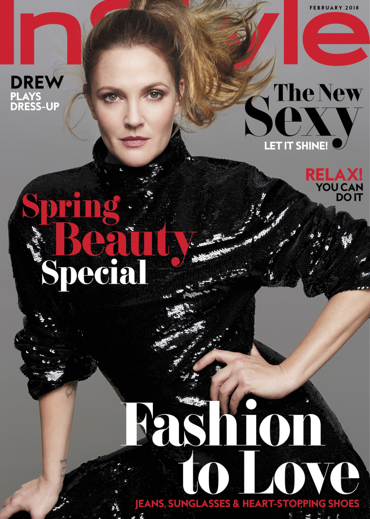 InStyle's February issue with Drew Barrymore