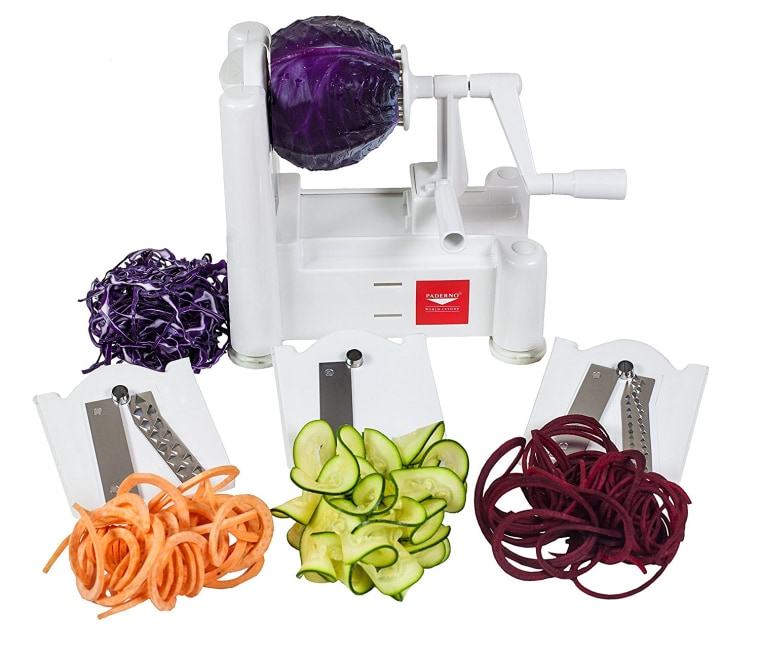 Paderno World Cuisine 3-Blade Vegetable Slicer/Spiralizer
